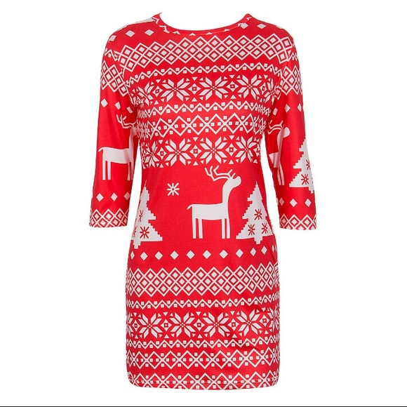 Dresses & Skirts - Classic Casual & Sexy Christmas Print Dress